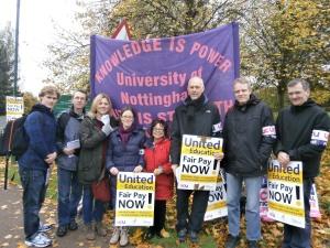 University of Nottingham UCU strike picket - October 2013